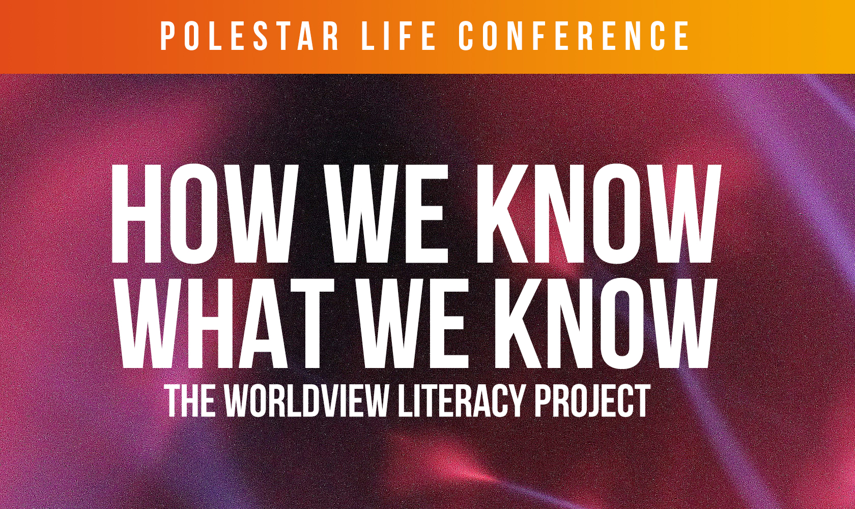 How Do We Know What We Know? (Polestar Life Conference)